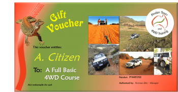 4WD Training Gift Voucher