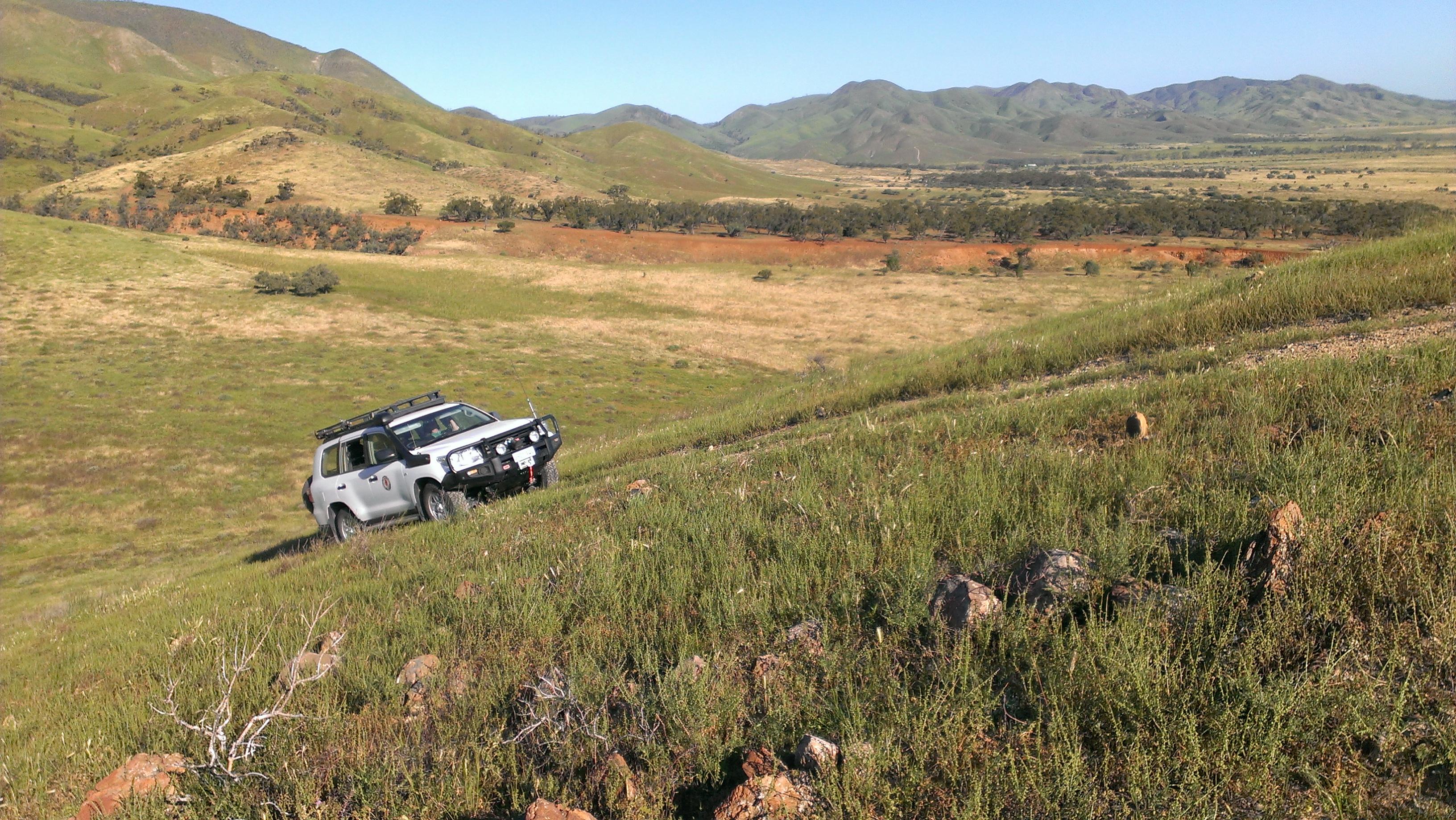 Steep Terrain Driving in the Flinders Ranges