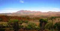 Join us on trips to see spectacular views like the Elder Range in the Flinders Ranges.